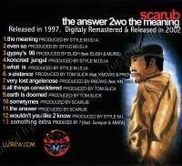 Scarub - 1997 - The Answer 2wo The Meaning (Back Cover)